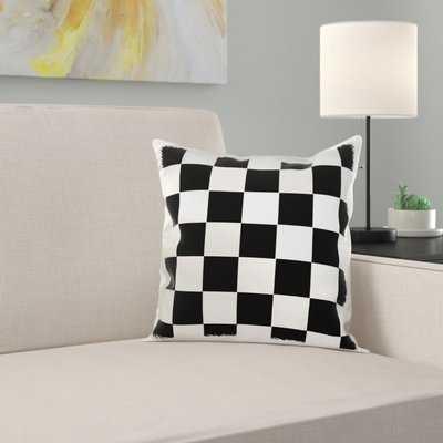 Checkered Squares Art Pillow Cover - Wayfair