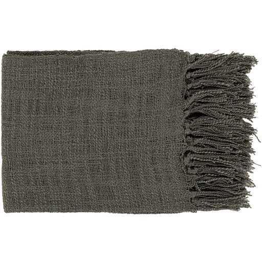 Alden Throw Blanket, Charcoal - Cove Goods