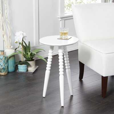 Breslin Round Accent Table with Turned Legs - Wayfair