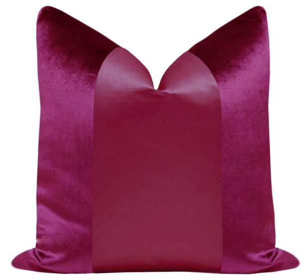 "PANEL Monochromatic :: Faux Silk Velvet // Magenta - 18"" X 18"" - Little Design Company"