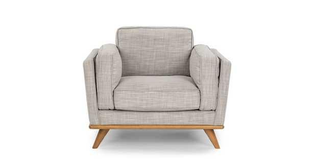 Timber Rain Cloud Gray Chair - Article