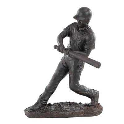 Bullen Modern Contemporary Hitting Baseball Player Figurine - Wayfair