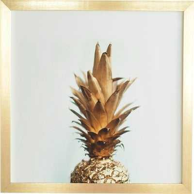 The Gold Pineapple' Framed Photographic Print on Wood by Chelsea Victoria - Picture Frame Photograph Print on Wood - AllModern