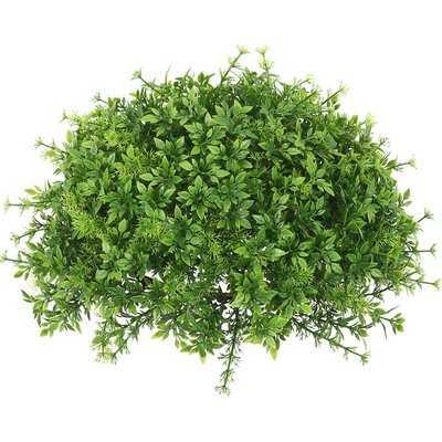 Artificial Mixed Greenery Half Ball Foliage Plant - Wayfair
