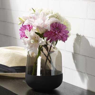 Scott Living Luxe Glass Shoulder Vase, 7-Inch, Smoke - Wayfair