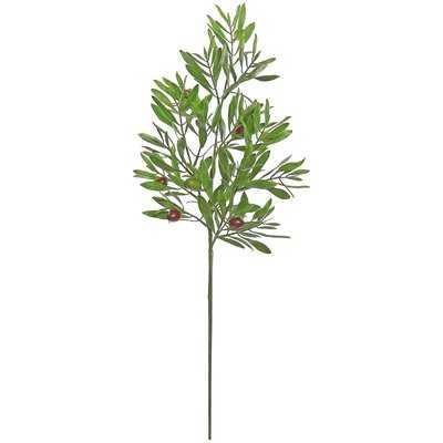2 Piece Olive Flowering Branch - Birch Lane