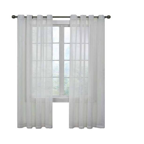 Curtain Fresh Arm and Hammer Odor Neutralizing Grommet White Sheer Curtain Panel, 84 in. Length - Home Depot