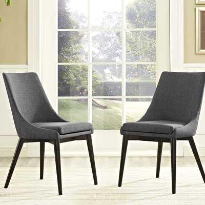 Minton Dining Side Chair (set of 2), Gray - Wayfair
