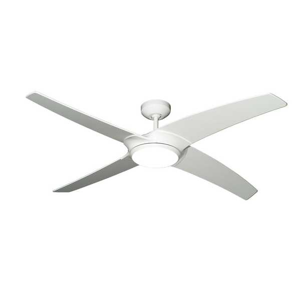 TroposAir Starfire 56 in. Pure White Ceiling Fan with LED Light - Home Depot