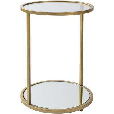 Ayan Modern Gold End Table - Wayfair