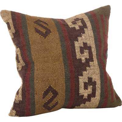 Kilim Wool Throw Pillow - Wayfair