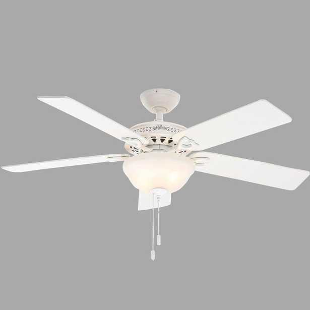 Hunter Astoria 52 in. Indoor White Ceiling Fan with Light Kit - Home Depot