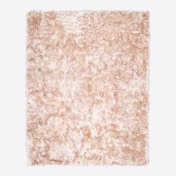 Glam Shag Rug, Rose Gold, 9'x12' - West Elm