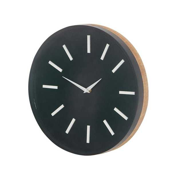 Black Modern Analog Wall Clock - Home Depot
