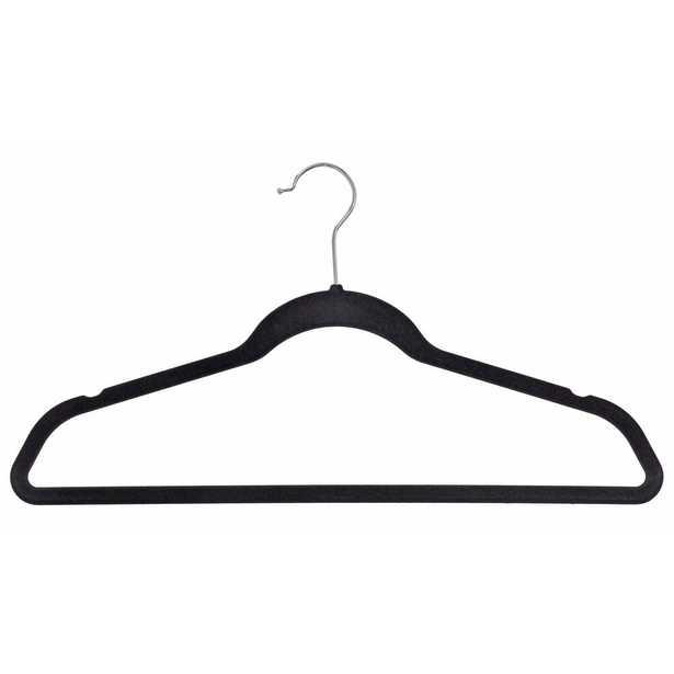 Velvet Black Suit Hanger (50-Pack) - Home Depot