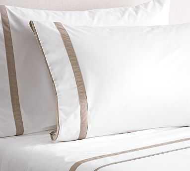 Morgan Organic Extra Pillowcases, Set of 2, King, Simply Taupe - Pottery Barn