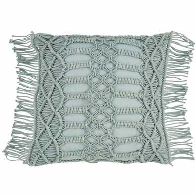 Plainfield Macrama Cotton Throw Pillow - Wayfair