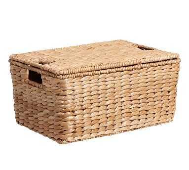 Savannah Lidded Basket, Medium - Pottery Barn