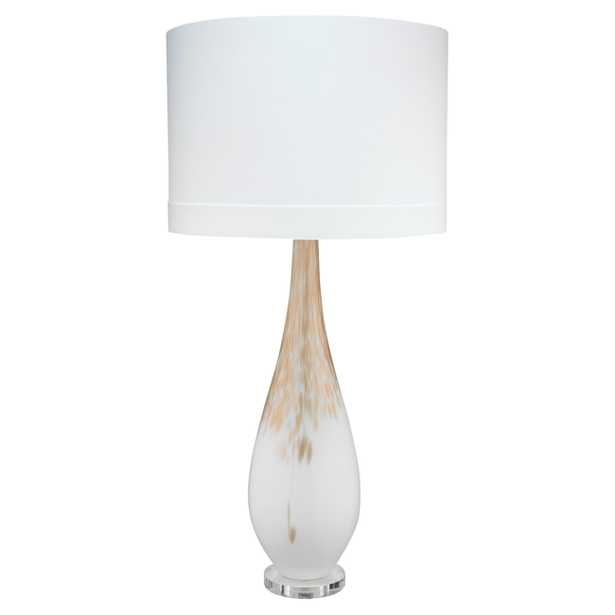 Maverick Modern Classic White Gold Ombre Glass Table Lamp - Kathy Kuo Home