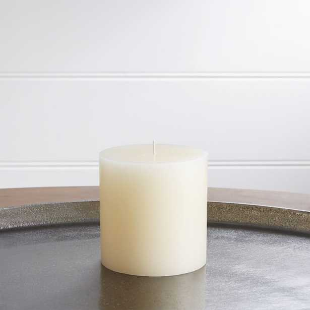"""4""""x4"""" Ivory Pillar Candle - Crate and Barrel"""