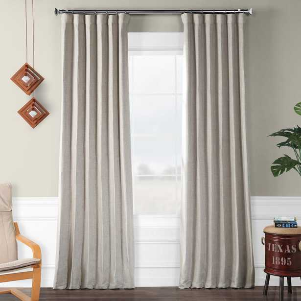 Exclusive Fabrics & Furnishings Clay Beige Faux Linen Blackout Curtain - 50 in. W x 84 in. L - Home Depot