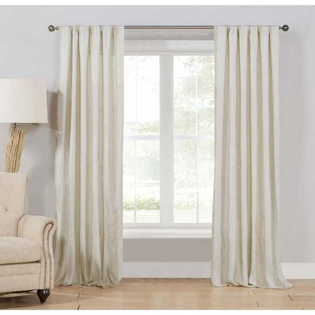 Duck River Newbury 96 in. L x 37 in. W Curtain Panel in Linen (2-Pack) - Home Depot