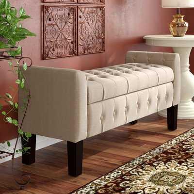 Throggs Upholstered Storage Bench - Wayfair
