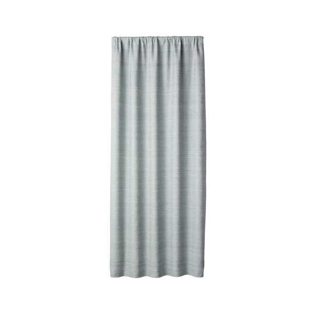 """Silvana Silk Abyss Blackout Curtain Panel 48""""x96"""" - Crate and Barrel"""