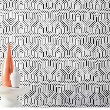 Drop It Modern Labyrinth Wallpaper - West Elm