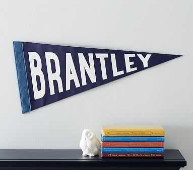 Personalized Pennant Flag, Navy - Pottery Barn Kids