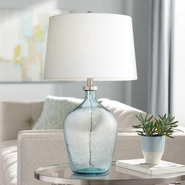 Ocean Breeze Clear Blue-Sea Bubble Glass Table Lamp - Style # 60M72 - Lamps Plus