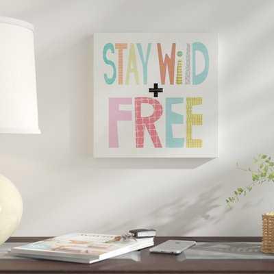 'Kid Play IV' Textual Art  on Wrapped Canvas - Wayfair