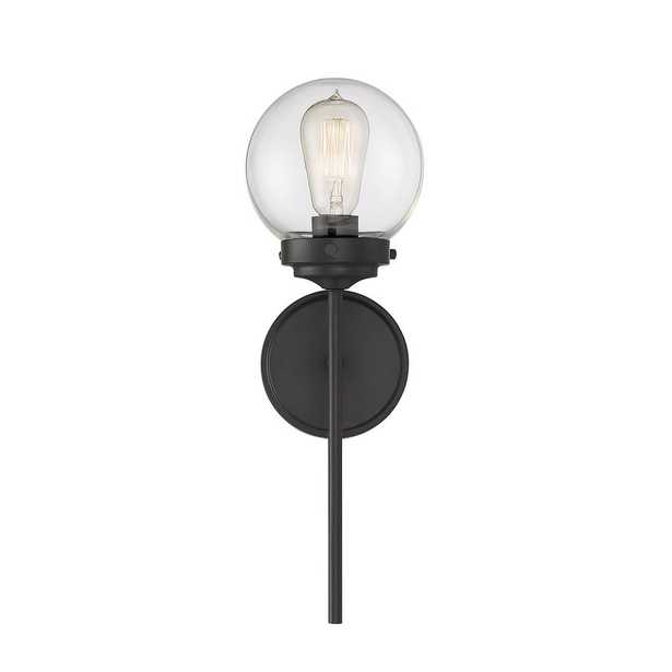 Filament Design 1-Light Oil Rubbed Bronze Sconce with Clear Glass - Home Depot
