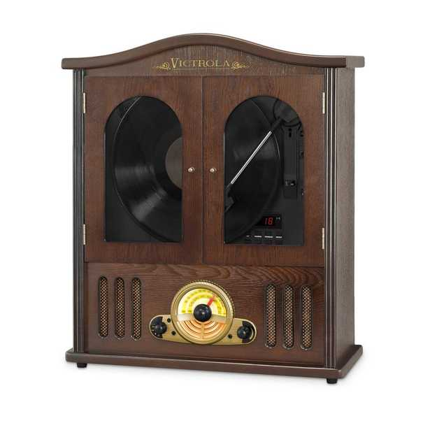 Wall Mounted Record Player with CD and Boombox - Home Depot