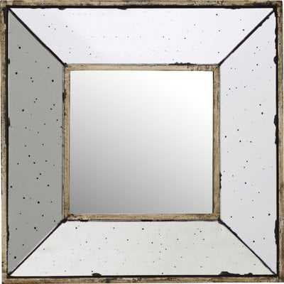 Traditional Square Glass Wall Mirror - Wayfair