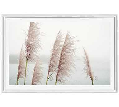 "Wild Pampas by Lupen Grainne, 42 x 28"", Ridged Distressed Frame, White, Mat - Pottery Barn"