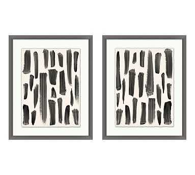 """Brush Trails Framed Print, 19.75 x 24.75"""", Set of 2 - Pottery Barn"""