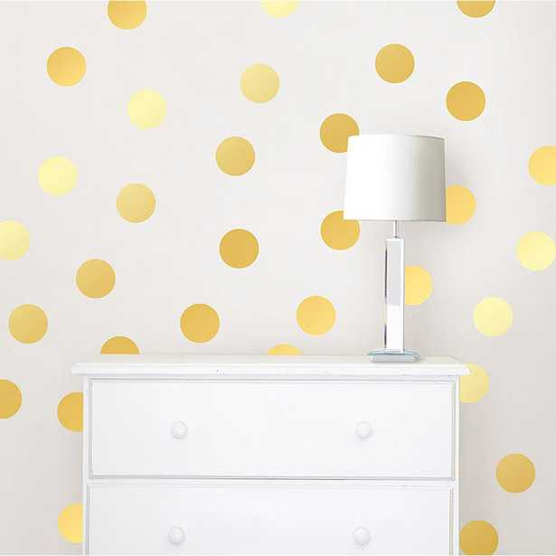 Gold Confetti Dots Wall Decal Set - Home Depot