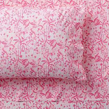 Lilly Pulitzer In The Swing Of Things Sheet Set, Twin/Twin XL, Hotty Pink - Pottery Barn Teen