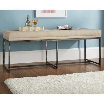 Fadrique Tufted Top Metal Upholstered Bedroom Bench - Wayfair