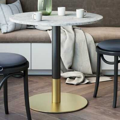 Belynda White Faux Marble Table Top Dining Table - Wayfair