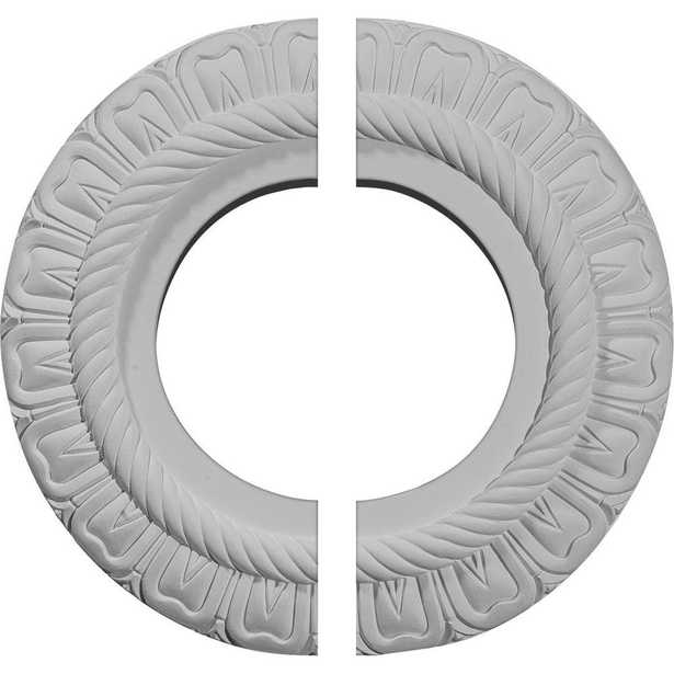 Ekena Millwork 9 in. O.D. x 4-1/2 in. I.D. x 1/2 in. P Claremont Ceiling Medallion (2-Piece) - Home Depot