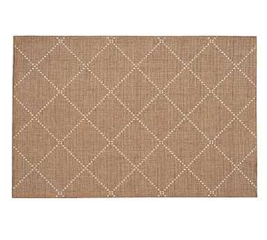 Joey Synthetic Rug, 8 x 10', Earth/Natural - Pottery Barn