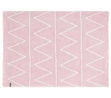 """Lorena Canals Hippy Washable Rug Soft Pink 4' x 5' 3"""" - Pottery Barn Kids"""
