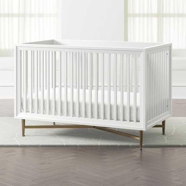 White Campaign Crib - Crate and Barrel
