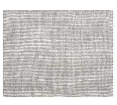 Chunky Natural Wool andJute Rug, 10 x 14', Gray/Ivory - Pottery Barn