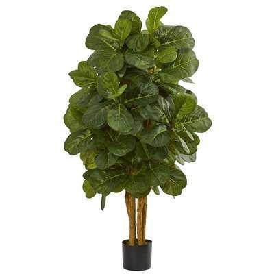 Leaf Floor Foliage Tree in Planter - Wayfair