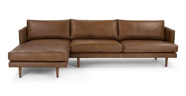 Burrard Bella Tan Left Sectional Sofa - Article
