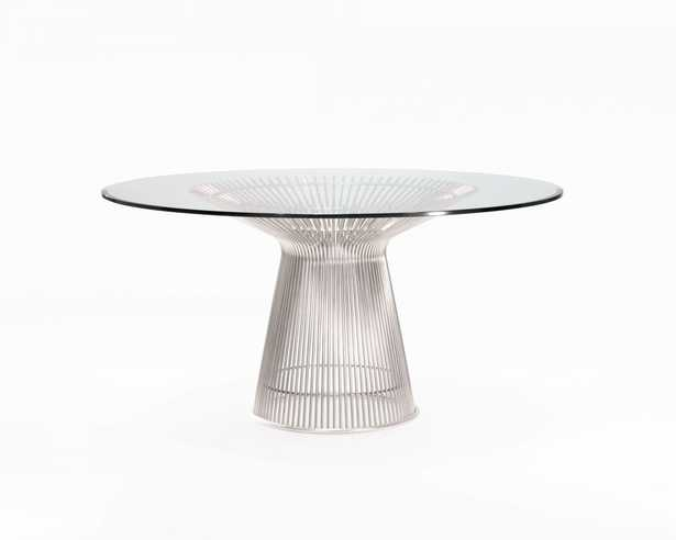 """Warren Dining Table - 54"""""""" Stainless Steel - Rove Concepts"""