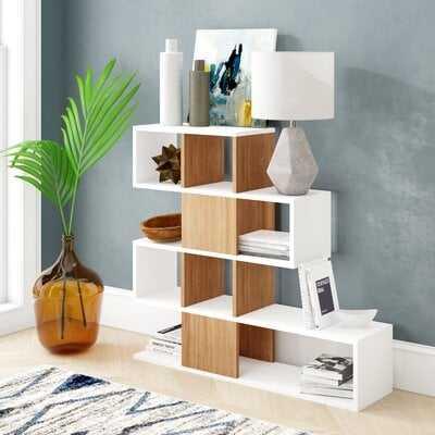 Dakota Geometric Bookcase - Wayfair